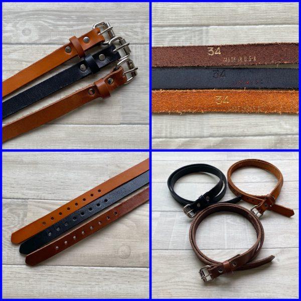 brackney leather works narrow belt